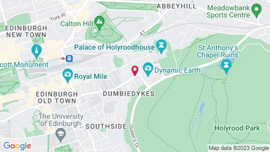 Macdonald Holyrood Hotel and Spa Map