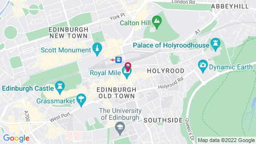 Hilton Edinburgh Carlton Map