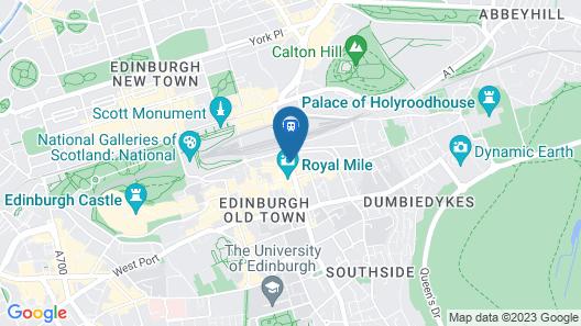Hilton Edinburgh Carlton Map