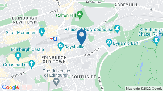 Aparthotel Adagio Edinburgh Royal Mile Map