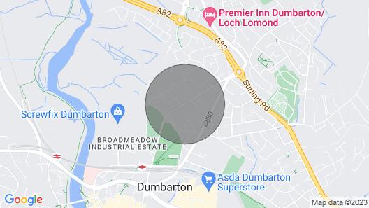 Bright, modern, 2 Bedroom Apartment in Dumbarton near Loch Lomond. Map