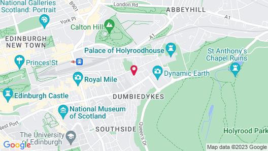 Holyrood Aparthotel Map