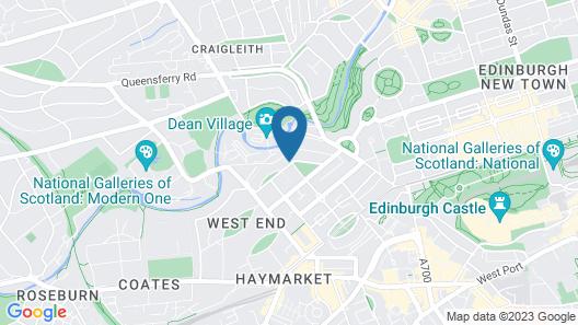 B+B Edinburgh Map