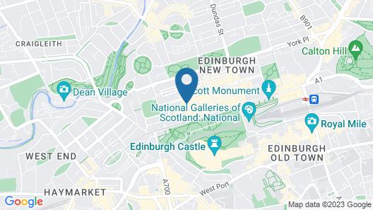 Edinburgh Castle Apartments and Suites Map