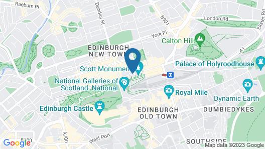 Mercure Edinburgh City - Princes Street Hotel Map