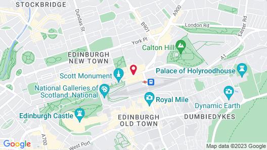 Hotel Indigo Edinburgh - Princes Street Map
