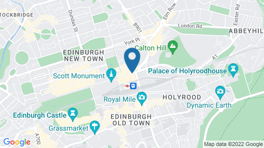 The Balmoral Hotel Map