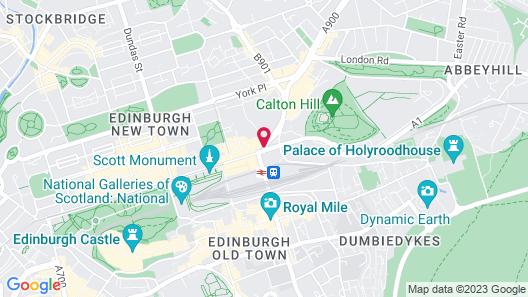 Motel One Edinburgh-Princes Map
