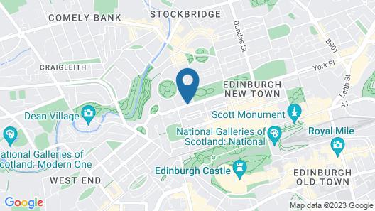 YOTEL Edinburgh Map