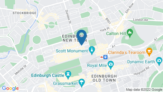 InterContinental Edinburgh The George Map