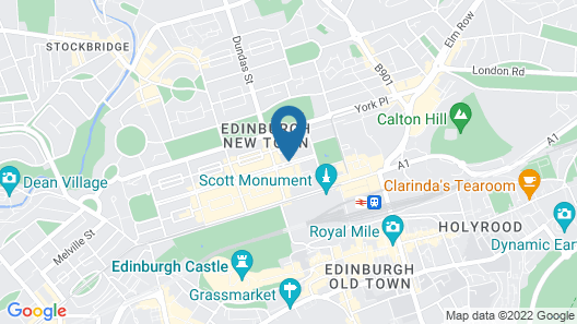 InterContinental Edinburgh The George, an IHG Hotel Map