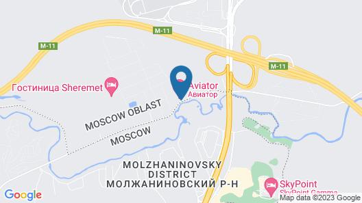 Hotel Aviator Sheremetyevo Map