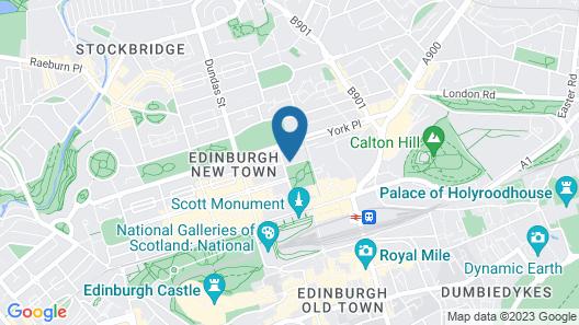 Malmaison Edinburgh City Map