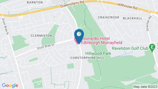 Leonardo Edinburgh Murrayfield Map