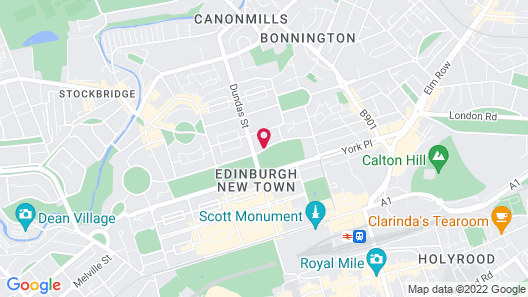 The Royal Scots Club Edinburgh Map