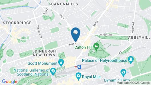 Hotel Indigo Edinburgh Map