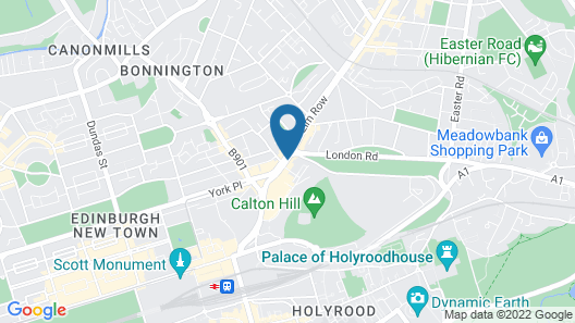Courtyard by Marriott Edinburgh Map