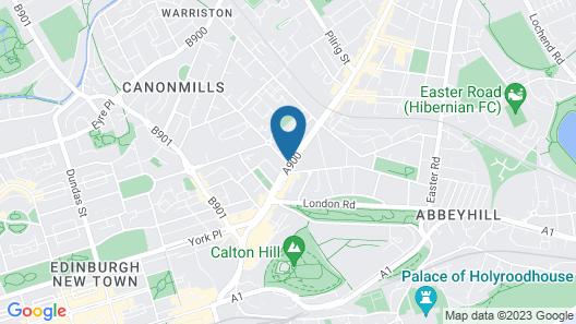 Edinburgh Central Youth Hostel Map