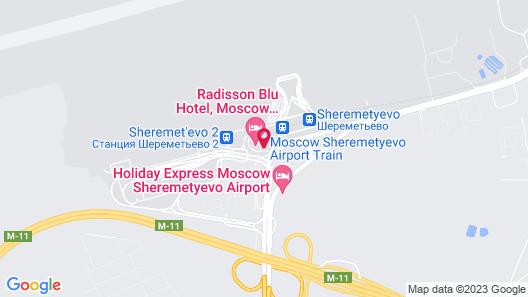 Radisson Blu Hotel, Moscow Sheremetyevo Airport Map