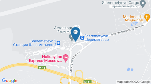 GettSleep Sheremetyevo Airport Terminal Aeroexpress Map