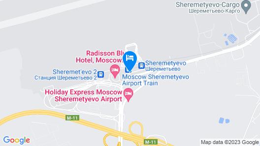 GettSleep Sheremetyevo Airport Terminal Aeroexpress Map