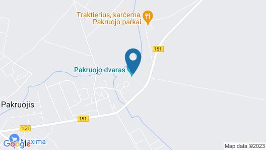 Pakruojis Manor's Palace Boutique Hotel Map