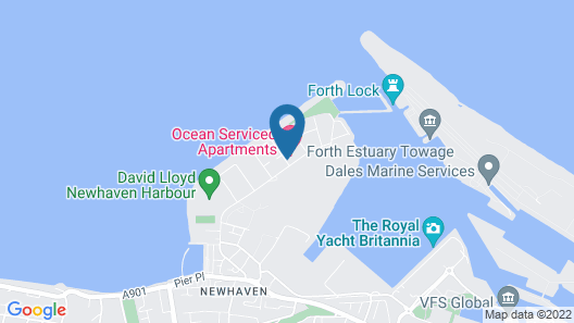 Ocean Serviced Apartments Map