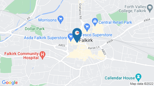 Kelpies Serviced Apartments Map