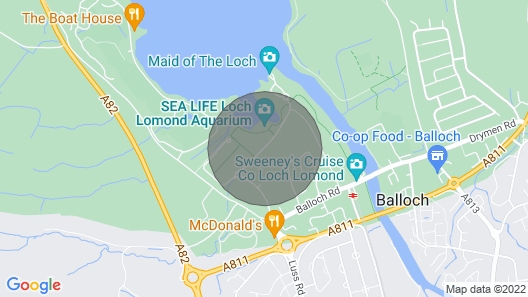 Loch Lomond Lodge Hogmanay New Year Celebrations View of Lake use of spa Map