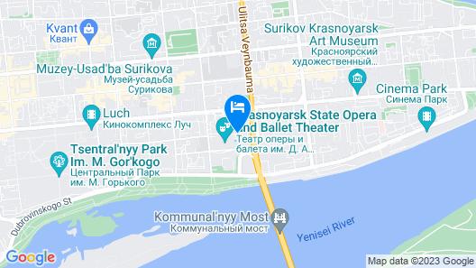 Hotel Krasnoyarsk Map