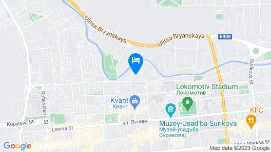 Hotel Berega Map