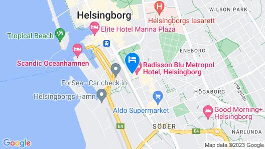Radisson Blu Metropol Hotel, Helsingborg Map
