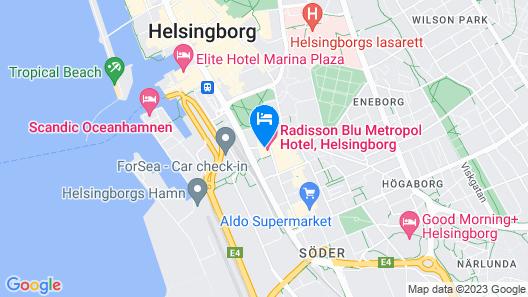 Comfort Hotel Helsingborg Map