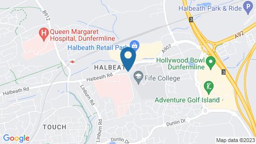 Holiday Inn Express Dunfermline Map