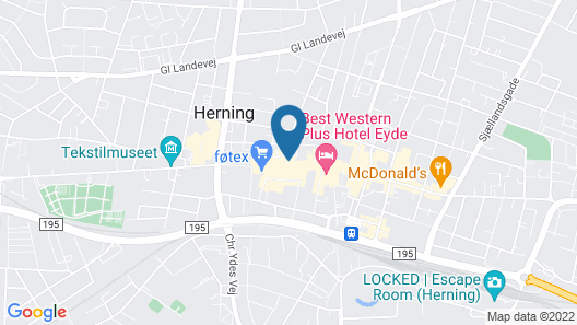 Herning City Hotel Map
