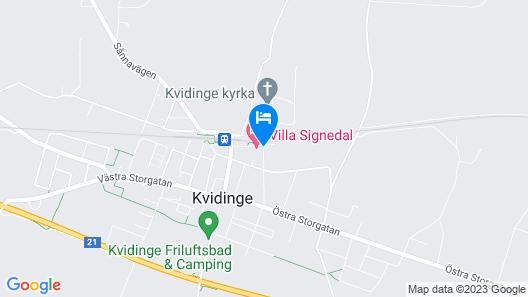 Villa Signedal Hostel Map
