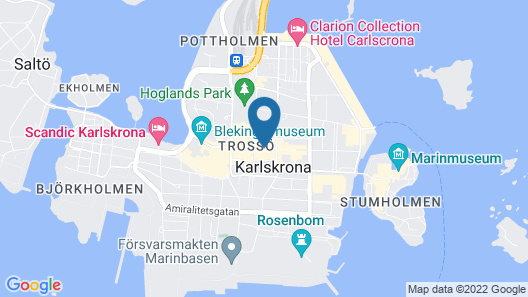 First Hotel Statt Karlskrona Map