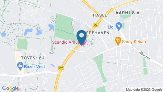Scandic Aarhus Vest Map