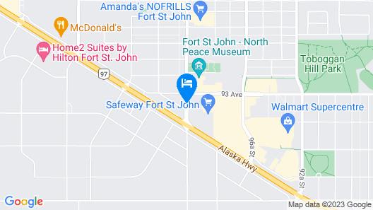 Stonebridge Hotel Fort St. John Map