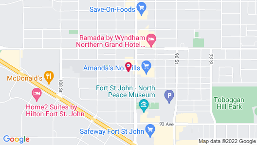 Lakeview Inns & Suites - Fort St. John Map