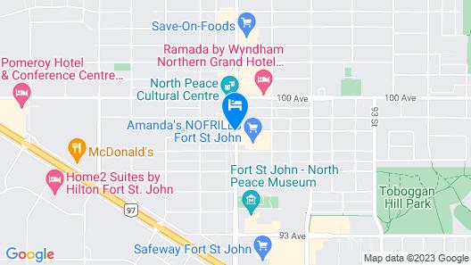 Motel 6 Fort St. John, BC Map