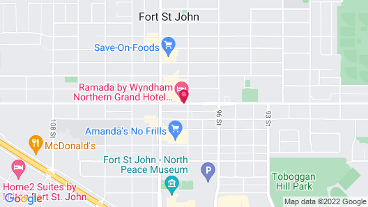 Northern Grand Hotel Map