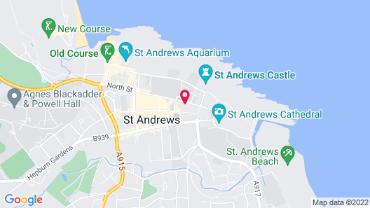 The Albany Hotel St Andrews Map