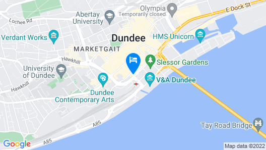 Malmaison Dundee Map