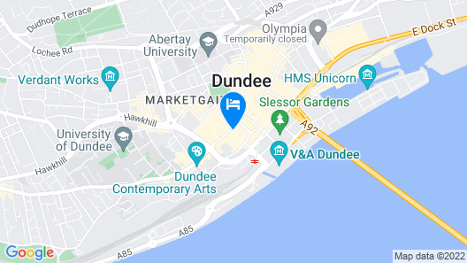 Sleeperz Hotel Dundee Map