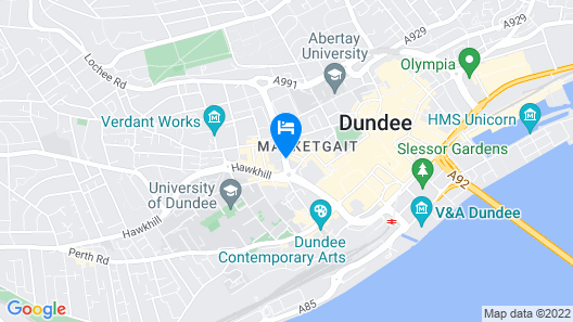 Hampton By Hilton Dundee City Center Map