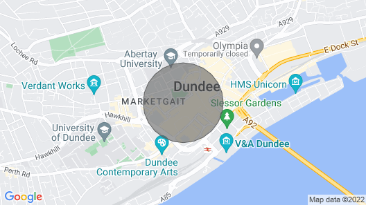 The Howff - Modern and relaxing property in the heart of Dundee City Centre. Map