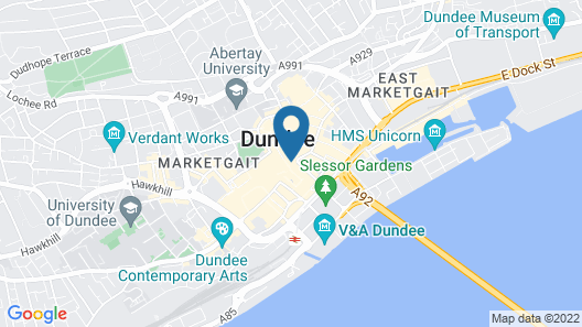 Dundee Backpackers Hostel Map