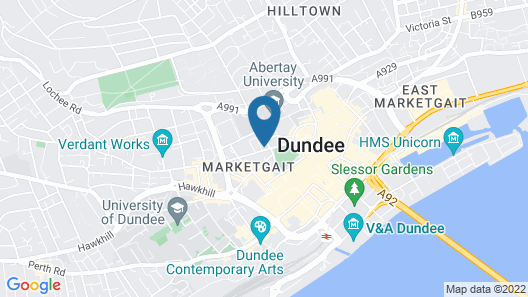 Modern Apartment in Dundee Near Museums, City Centre Map