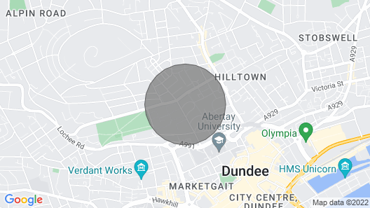 House on the Hill - Gorgeous Character Property in Dundee Map